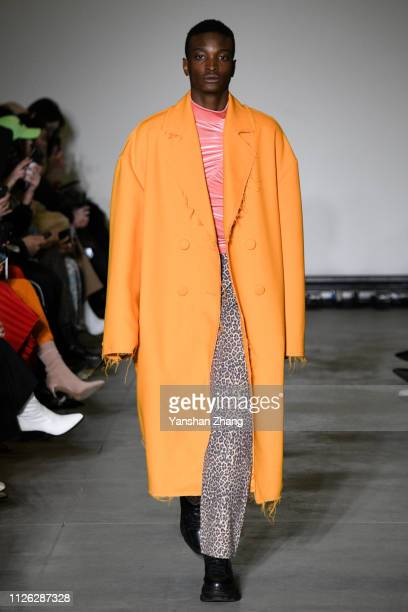 A model walks the runway at the Annakiki show at Milan Fashion Week Autumn/Winter 2019/20 on February 20 2019 in Milan Italy