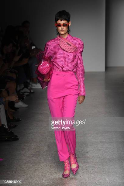 A model walks the runway at the Annakiki show during Milan Fashion Week Spring/Summer 2019 on September 19 2018 in Milan Italy