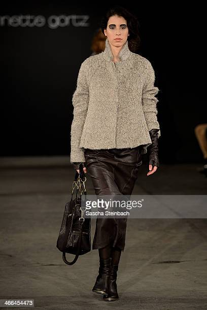 A model walks the runway at the Annette Goertz show during Platform Fashion Dusseldorf on February 1 2014 in Dusseldorf Germany