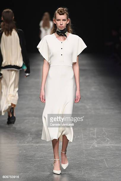 A model walks the runway at the Anteprima show during Milan Fashion Week Spring/Summer 2017 on September 22 2016 in Milan Italy