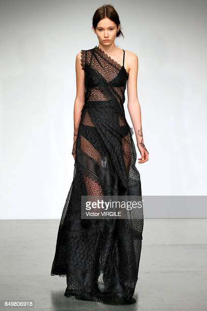 c5be9e1e99649a A model walks the runway at the Antonio Berardi Ready to Wear Spring Summer  2018