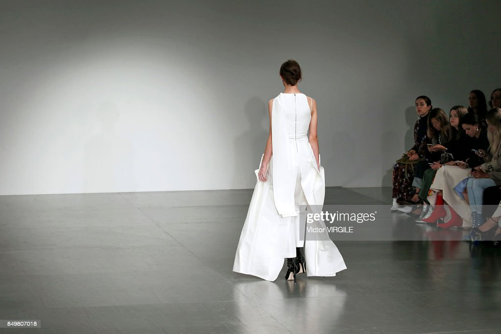 A model walks the runway at the Antonio Berardi Ready to Wear Spring/Summer 2018 fashion show during London Fashion Week September 2017 on September 18, 2017 in London, England.
