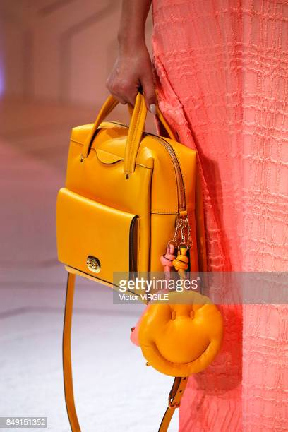 A model walks the runway at the Anya Hindmarch Ready to Wear Spring/Summer 2018 fashion show during London Fashion Week September 2017 on September...