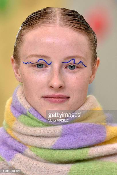 A model walks the runway at the Arthur Arbesser Ready to Wear Fall/Winter 20192020 fashion show at Milan Fashion Week Autumn/Winter 2019/20 on...