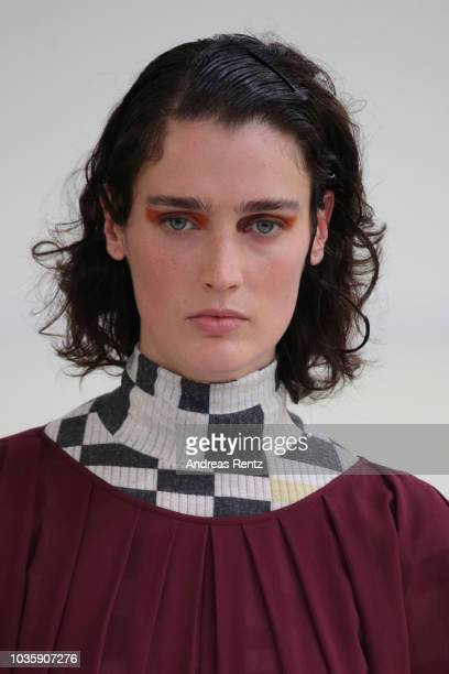 A model walks the runway at the Arthur Arbesser show during Milan Fashion Week Spring/Summer 2019 on September 19 2018 in Milan Italy