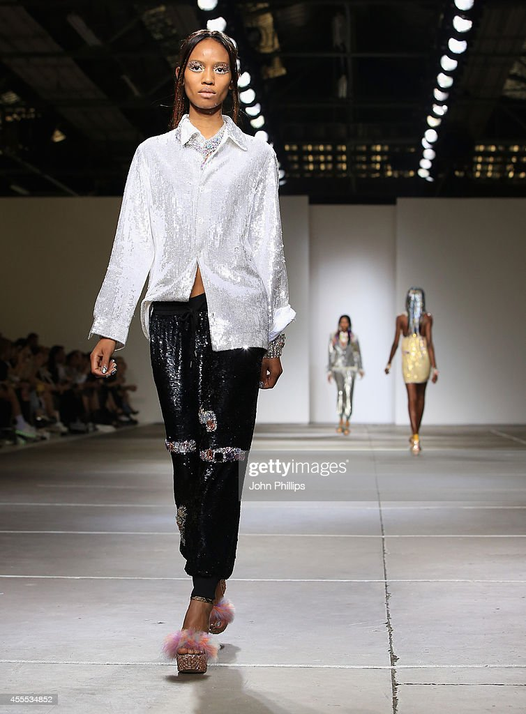 A model walks the runway at the Ashish show during London Fashion Week Spring Summer 2015 on September 16, 2014 in London, England.