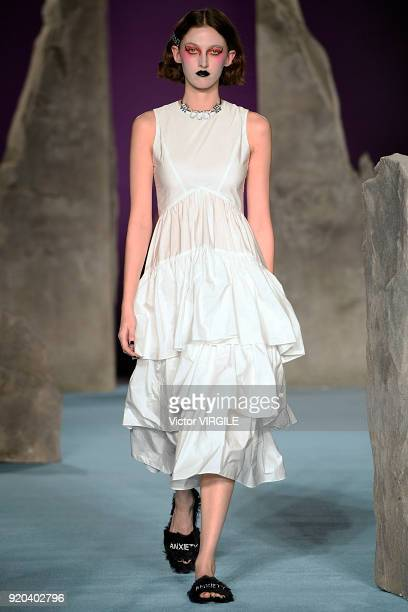 A model walks the runway at the Ashley Williams Ready to Wear Fall/Winter 20182019 fashion show during London Fashion Week February 2018 on February...