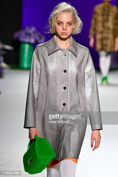 A model walks the runway at the Ashley Williams Ready to Wear Fall/Winter 20192020 fashion show during London Fashion Week February 2019 on February...