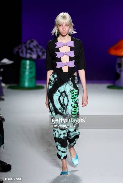 A model walks the runway at the Ashley Williams show during London Fashion Week February 2019 on February 15 2019 in London England