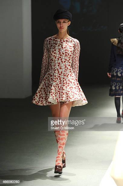 Model walks the runway at the Asli Jackson Presentation during Mercedes Benz Fashion Week Istanbul FW15 on March 17 2015 in Istanbul Turkey