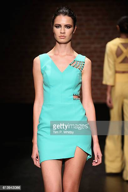 A model walks the runway at the Aslialev show during MercedesBenz Fashion Week Istanbul at Zorlu Center on October 11 2016 in Istanbul Turkey