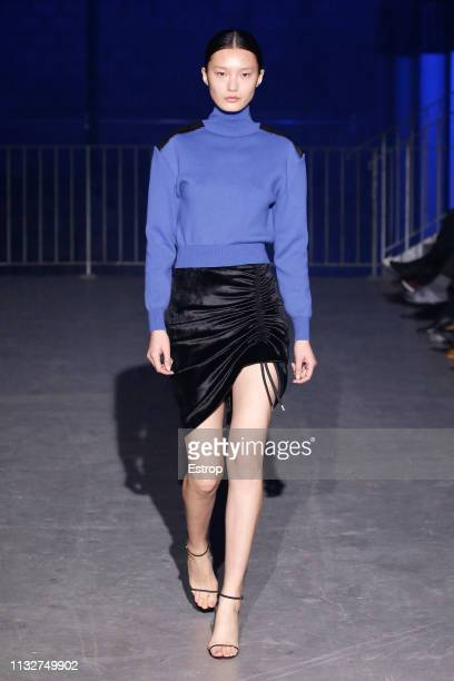 A model walks the runway at the Atlein show at Paris Fashion Week Autumn/Winter 2019/20 on February 28 2019 in Paris France