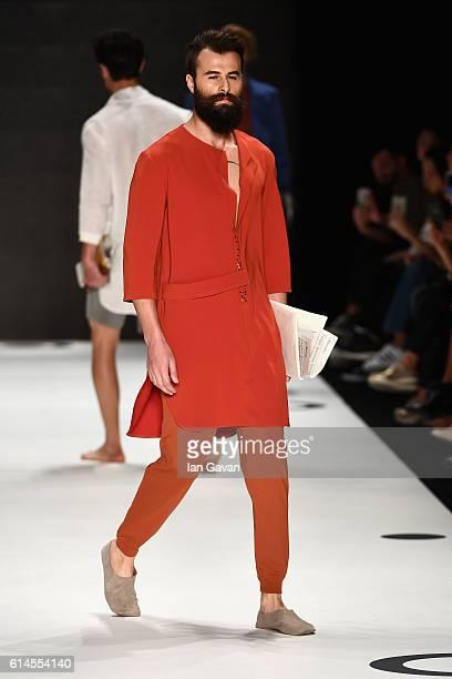 A model walks the runway at the Ayse Deniz Yegin show during MercedesBenz Fashion Week Istanbul at Zorlu Center on October 14 2016 in Istanbul Turkey