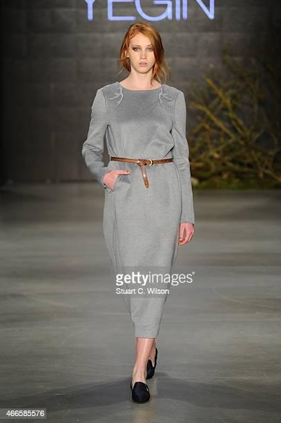 A model walks the runway at the Ayse Deniz Yegin show during Mercedes Benz Fashion Week Istanbul FW15 on March 17 2015 in Istanbul Turkey