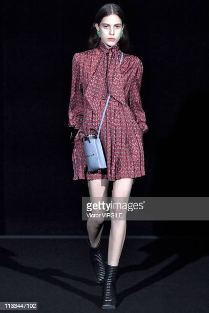 A model walks the runway at the Balenciaga Ready to Wear fashion show at Paris Fashion Week Autumn/Winter 2019/20 on March 3 2019 in Paris France