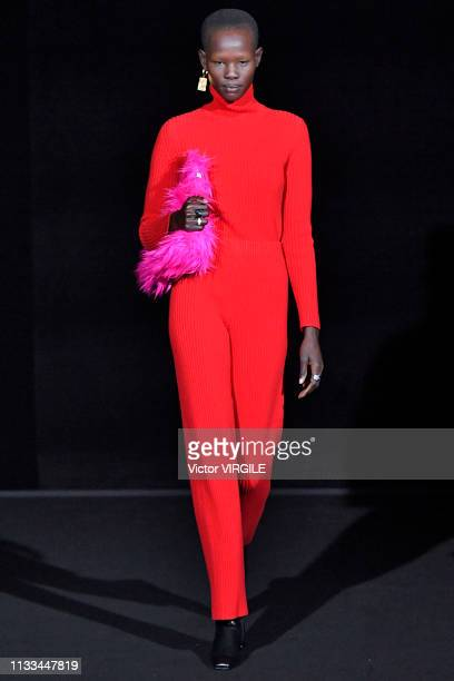 A model walks the runway at the Balenciaga Ready to Wear fashion show at Paris Fashion Week Autumn/Winter 2019/20 on March 3 2019 in Paris France