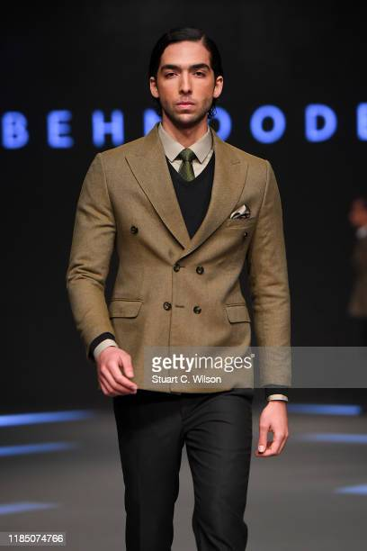 A model walks the runway at the Behnoode show during the FFWD October Edition 2019 at the Dubai Design District on November 02 2019 in Dubai United...