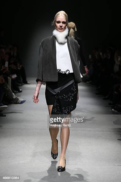 A model walks the runway at the Belma Ozdemir show during Mercedes Benz Fashion Week Istanbul FW15 on March 19 2015 in Istanbul Turkey
