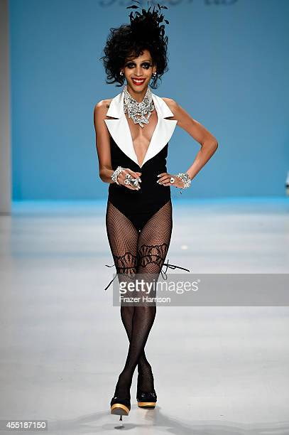 A model walks the runway at the Betsey Johnson fashion show during MercedesBenz Fashion Week Spring 2015 at The Salon at Lincoln Center on September...