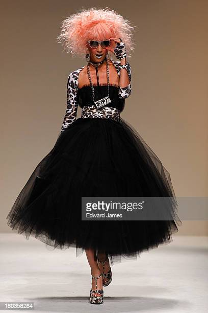 A model walks the runway at the Betsey Johnson show during Spring 2014 MercedesBenz Fashion Week at The Studio at Lincoln Center on September 11 2013...