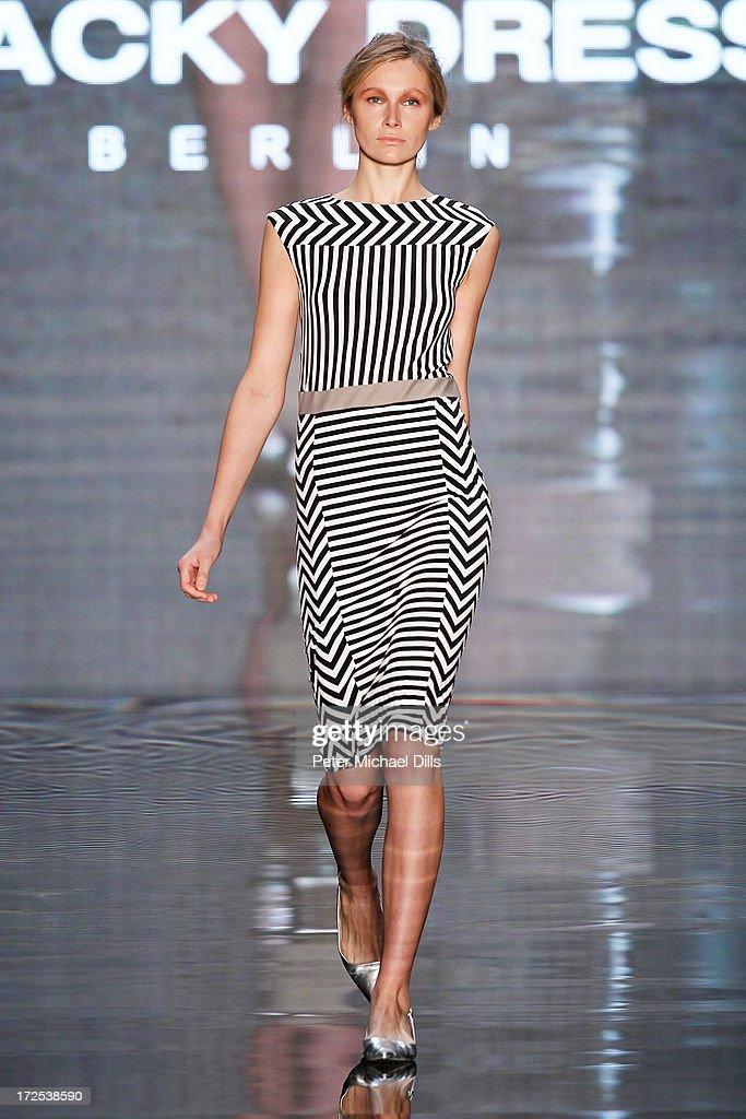 new product 95cb6 fda81 A model walks the runway at the Blacky Dress Berlin Show ...