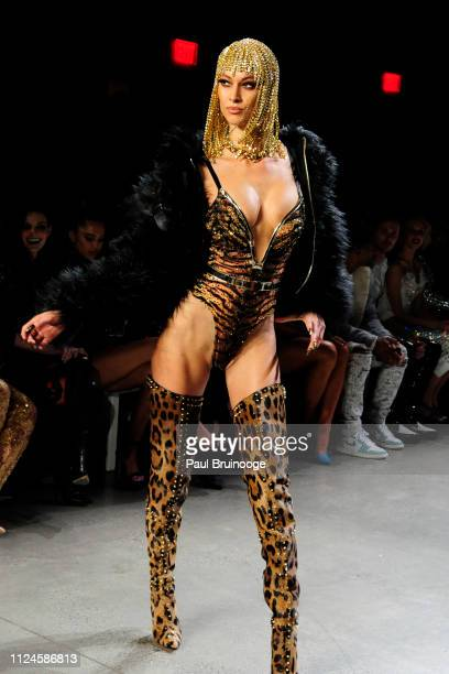 A model walks the runway at The Blonds during New York Fashion Week The Shows at Gallery I at Spring Studios on February 12 2019 in New York City