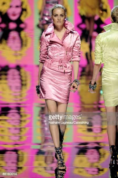 A model walks the runway at the Blumarine fashion show during Milan Fashion Week Womenswear Autumn/Winter 2009 on February 28 2009 in Milan Italy