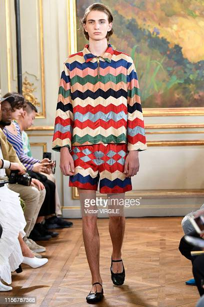 Model walks the runway at the Bode fashion show during Paris Men's Fashion Week Spring/Summer 2020 on June 18, 2019 in Paris, France.