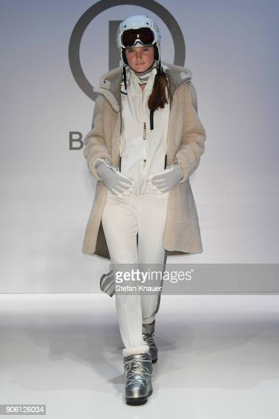 A model walks the runway at the Bogner show during the MBFW Berlin January 2018 at ewerk on January 17 2018 in Berlin Germany