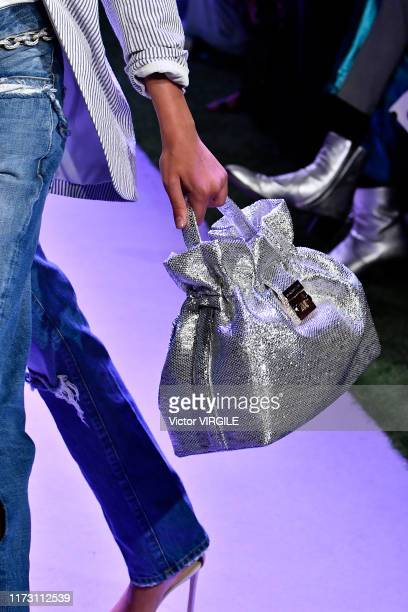 Model walks the runway at the Bradon Maxwell Ready to Wear Spring/Summer 2020 fashion show during New York Fashion Week on September 07, 2019 in New...