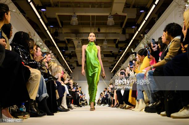 A model walks the runway at the Brandon Maxwell fashion show during New York Fashion Week on February 09 2019 in New York City