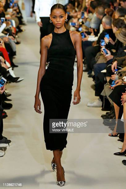 A model walks the runway at the Brandon Maxwell Ready to Wear Fall/Winter 20192020 fashion show during New York Fashion Week on February 9 2019 in...