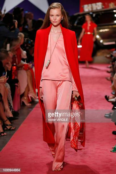 A model walks the runway at the Brandon Maxwell Spring/Summer 2019 fashion show during New York Fashion Week on September 8 2018 in New York City