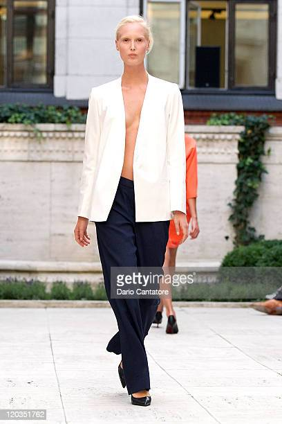 09b964f6acea A model walks the runway at the Bruuns Bazaar show at Copenhagen Fashion  Week Spring