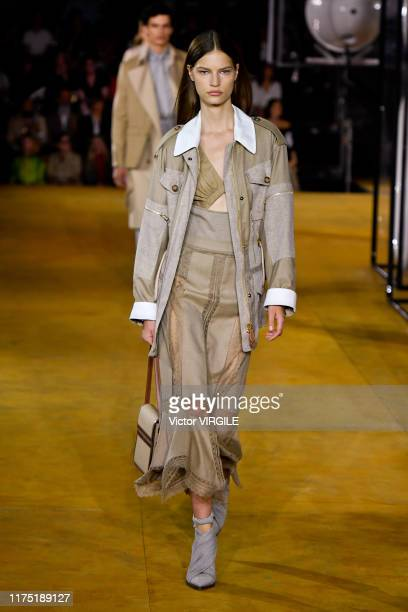 A model walks the runway at the Burberry Ready to Wear Spring/Summer 2020 fashion show during London Fashion Week September 2019 on September 16 2019...