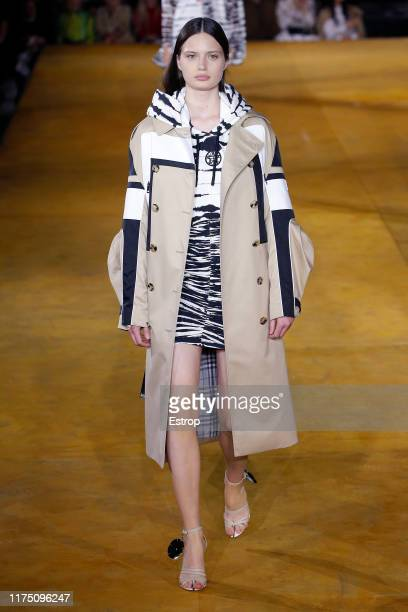 A model walks the runway at the Burberry show during London Fashion Week September 2019 on September 16 2019 in London England