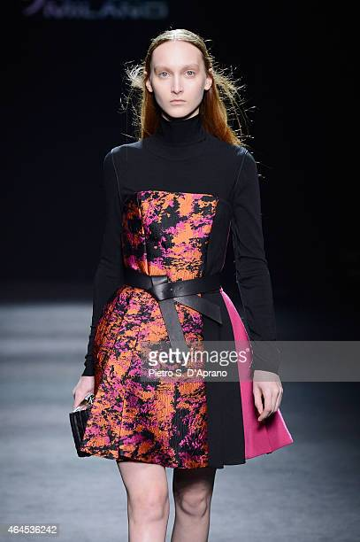 A model walks the runway at the Byblos Milano show during the Milan Fashion Week Autumn/Winter 2015 on February 26 2015 in Milan Italy