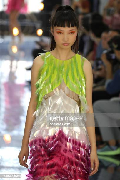 A model walks the runway at the Byblos show during Milan Fashion Week Spring/Summer 2019 on September 19 2018 in Milan Italy