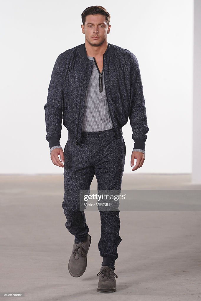 A model walks the runway at the Cadet Fall/Winter 2016 Collection during NYFW Men's Fall/Winter 2016 on February 3, 2016 in New York City.