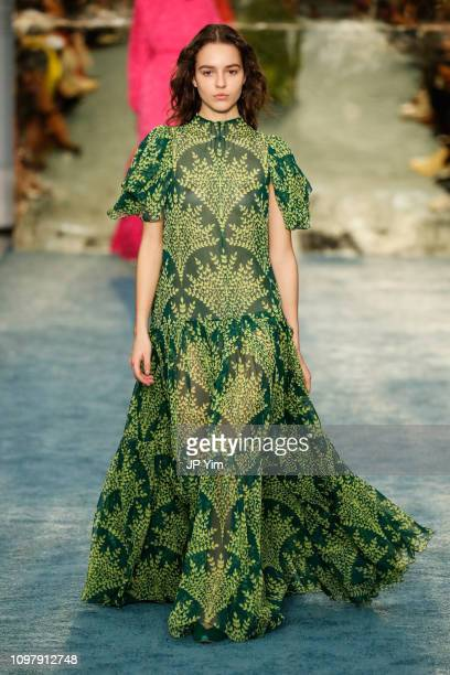 A model walks the runway at the Carolina Herrera Fall/Winter 2019 Collection at the New York Historical Society on February 11 2019 in New York City