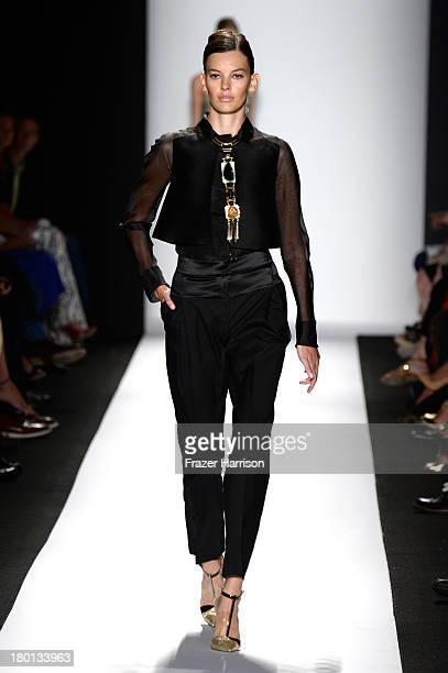 A model walks the runway at the Carolina Herrera fashion show during MercedesBenz Fashion Week Spring 2014 on September 9 2013 in New York City