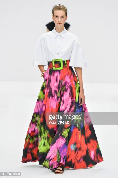 A model walks the runway at the Carolina Herrera Ready to Wear Spring/Summer 2020 fashion show during New York Fashion Week on September 09 2019 in...