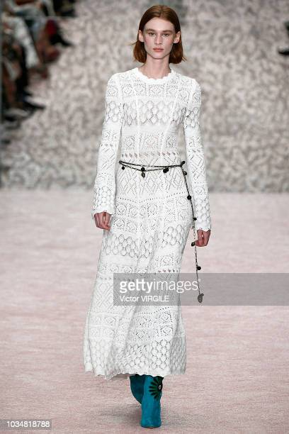 A model walks the runway at the Carolina Herrera Spring/Summer 2019 fashion show during New York Fashion Week on September 10 2018 in New York City