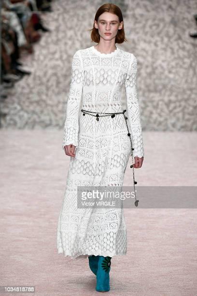 Model walks the runway at the Carolina Herrera Spring/Summer 2019 fashion show during New York Fashion Week on September 10, 2018 in New York City.