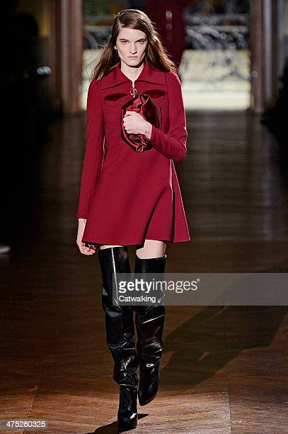 A model walks the runway at the Carven Autumn Winter 2014 fashion show during Paris Fashion Week on February 27 2014 in Paris France