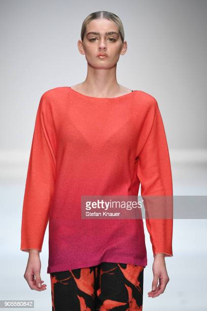 A model walks the runway at the Cashmere Victim show during the MBFW Berlin January 2018 at ewerk on January 16 2018 in Berlin Germany