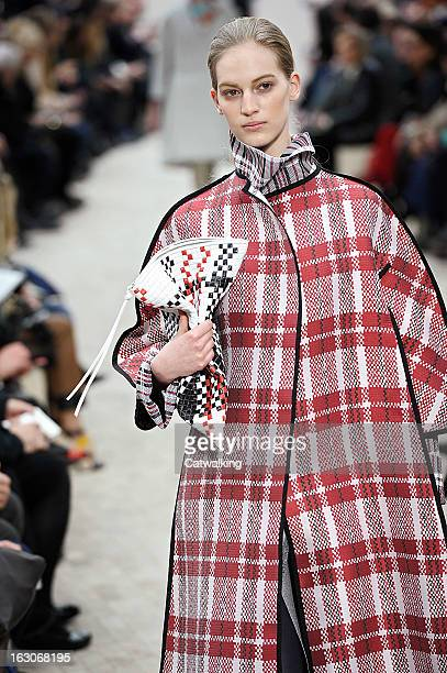 A model walks the runway at the Celine Autumn Winter 2013 fashion show during Paris Fashion Week on March 3 2013 in Paris France