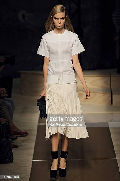 A model walks the runway at the Celine Spring Summer 2012 fashion show during Paris Fashion Week on October 2 2011 in Paris France