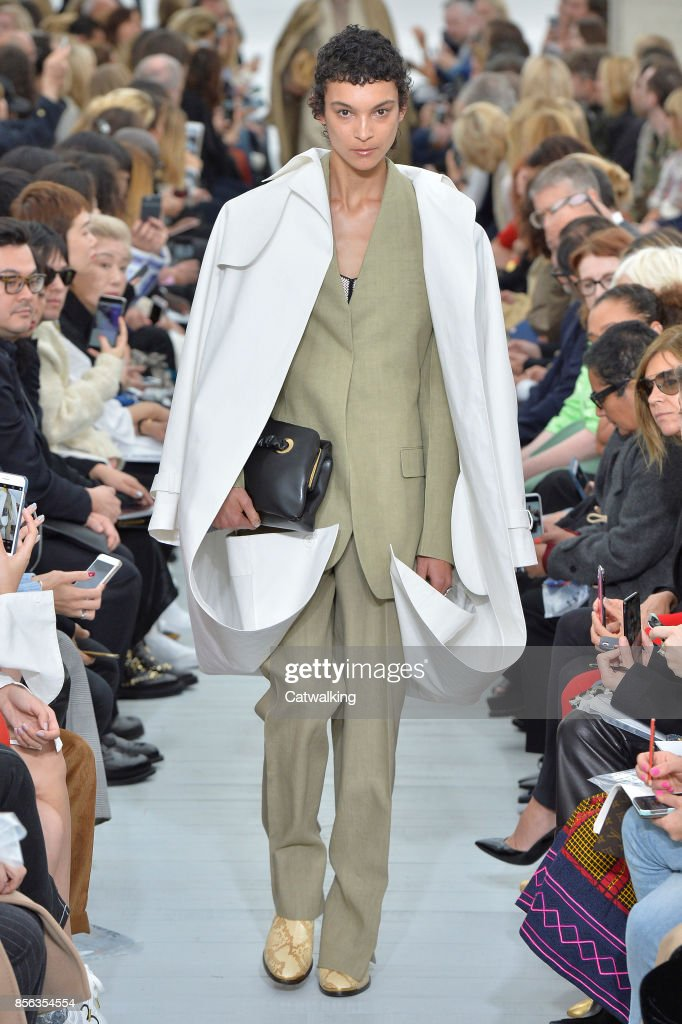 A model walks the runway at the Celine Spring Summer 2018