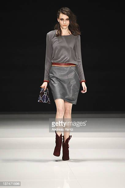 A model walks the runway at the C'est tout fashion show at Michalsky StyleNite during MercedesBenz Fashion Week Berlin at Tempodrom on January 20...